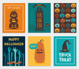 Wall Mural - Halloween Cards set.
