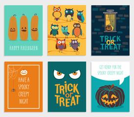 Wall Mural - Halloween Cards set.