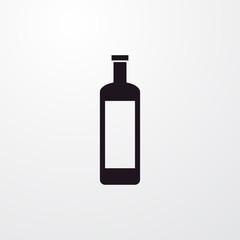 wine bottle icon illustration