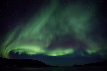 Aurora activity outside Tromso