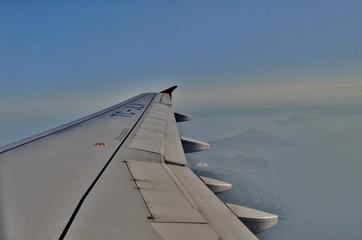Uçak kanadı ve gökyüzü