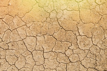 Texture cracked, dry the surface of the earth. Earth turned into