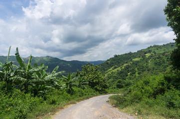 Route dans la montagne, Lombok, Indonésie
