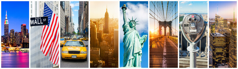 Türaufkleber New York TAXI New York City Panorama Collage