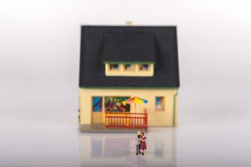 Miniature people house