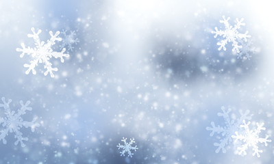 Winter snow background for christmas.