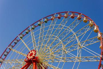Wall Murals Amusement Park Red ferris wheel