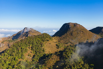 Landscape view of Chiang dao mountain area, Chiang mai, Thailand