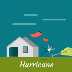 Hurricane Destroying House and Killing Man