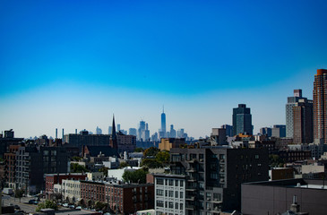 View of North Queens with Lower Manhattan in the Background on a very clear day - Urban Skyline