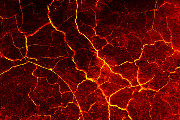 Lava crack cement wall background.