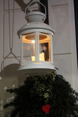 White lantern at Christmas