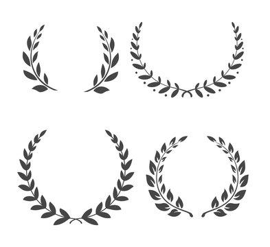 Vector Laurel wreaths. Winner leaf of Glogy. Vector Laurel wreaths. Winner leaf of Glogy. Vector Laurel wreaths. Winner leaf of Glogy. Vector Laurel wreaths. Winner leaf. Glogy. Vector Laurel wreaths