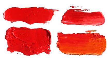 abstract acrylic color brush strokes blots.