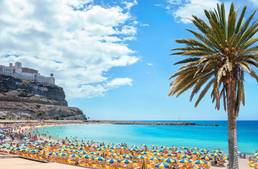 Amadores beach. Gran Canaria, Canary islands, Spain