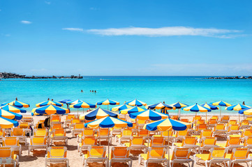 Amadores beach. Gran Canaria, Canary islands, Spain