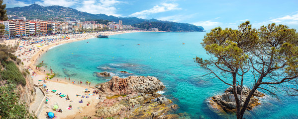 Lloret de Mar beach. Costa Brava, Catalonia, Spain