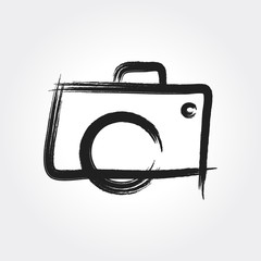Hand Drawn Camera Photography Logo