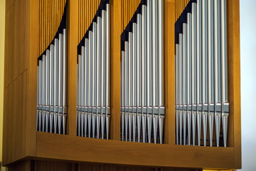 Modern pipe organ in renovated building of conservatory
