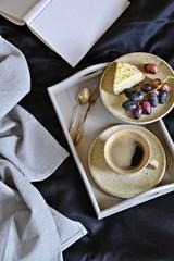 Breakfast in bed. Coffee in bed