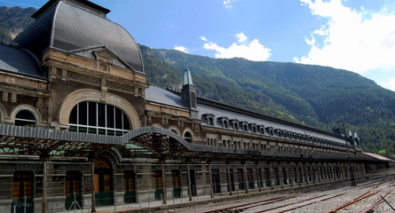 Aluminium Prints Train Station It´the train station of Canfranc, in Spain.