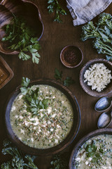 Broccoli and Feta Cheese Soup