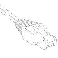 Ethernet cable vector