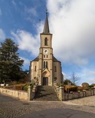 Church and castle in Useldingen