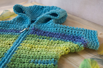 Knitting needles and yarn with love