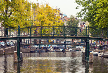 The bridge over the canal in Amsterdam