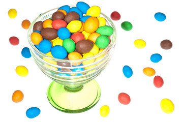 Bonbons im Glaskelch