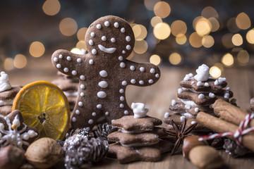 Weihnachtskarte Stimmung Lebkuchen