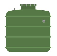 Barrel capacity tanks vector