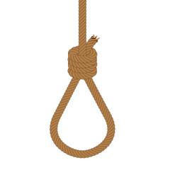 Cappio di corda sospeso