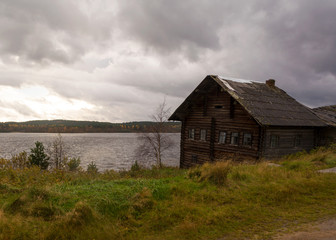 House on the lake, has long abandoned and forgotten