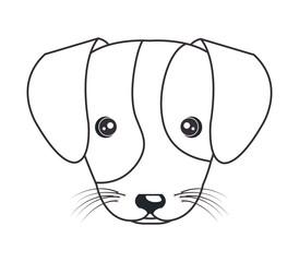 cartoon cute puppy hand draw vector illustration eps 10