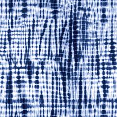 Indigo blue tie-dye pattern. Editable vector seamless repeat.