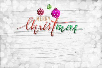 Christmas and Happy New Year greeting holidays hand lettering co