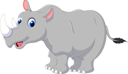 cute Cartoon rhino posing
