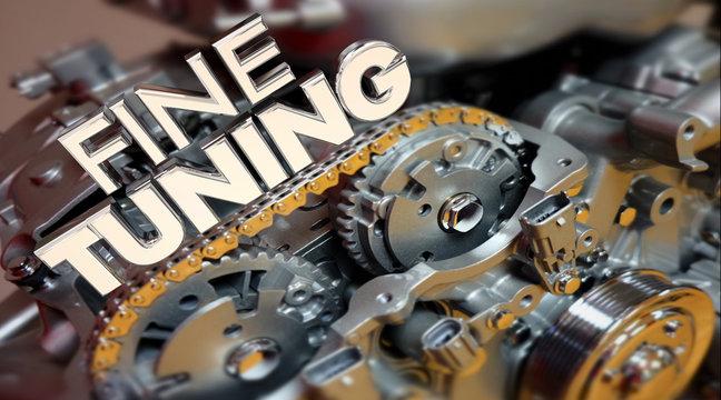 Fine Tuning Engine Performance Engineering Words 3d Illustration