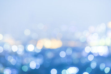 Abstract blur bokeh night city background