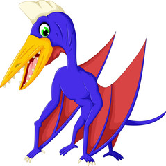 cute pterodactyl cartoon for you design