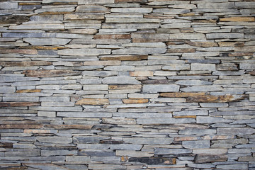 Stones art wall close up.