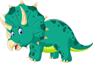 cute Triceratops cartoon for you design