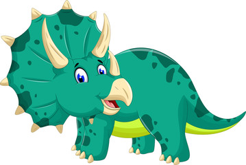 cute Triceratops cartoon posing