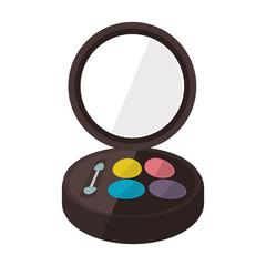 make up eye palette icon over white background. vector illustration
