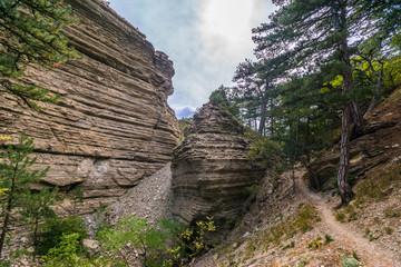 The rocks in the tract Taraktash