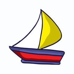 Ship simple style cartoon for kids design
