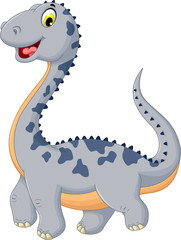 cute dinosaur cartoon posing