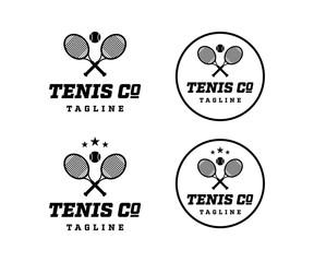 Vintage Circle Tennis Ball Logo
